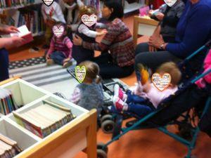 Jeudi 9 février, 5 petits lecteurs attentifs avec Yvette et Véronique