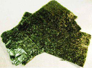 Les Noris sont des algues sechées et préssées utilisées pour faire des makis