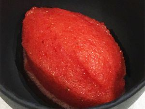 Sorbet fraise basilic