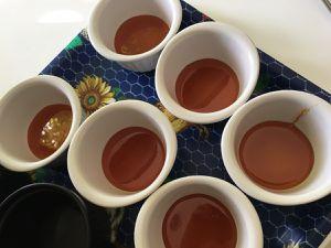 préparation de la crème caramel