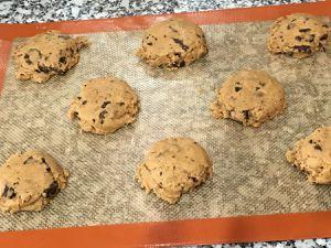 cookies avant/après cuisson