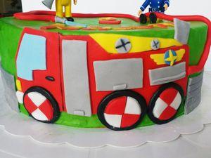 Camion de Sam le Pompier et muret