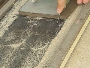 Préparation du carreau, tel un pâtissier !