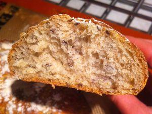 Pain aux graines de lin et farine semi-complète (au cook'in)