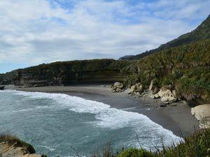 ...pour arriver au bord de la mer sur la côte ouest