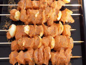Brochettes de poulet dukan