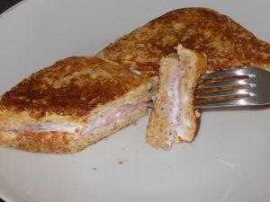 Croque-perdu jambon chèvre dukan