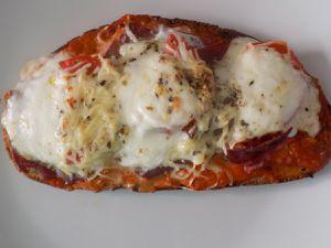 Bruschetta jambon cru/ mozzarella