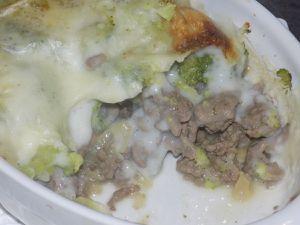 Gratin de brocoli et viande hachée dukan