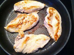 Escalopes de poulet gratinées à l'italienne