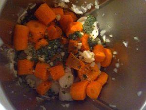 Velouté de navets et carottes aux épices dukan