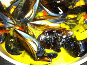 Moules curry/coco Dukan