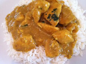 Curry de poulet korma dukan