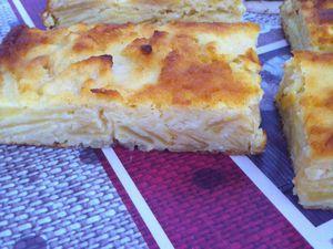 Gâteau invisible pommes-amandes