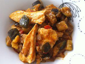 Tajine de poulet aux légumes grillés Dukan