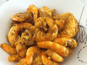 Crevettes sautées aux épices dukan