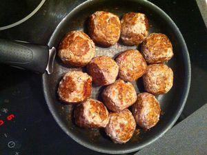 Boulettes surprises à la sauce tomate  Dukan