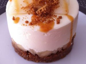 Cheesecake poire speculoos