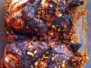 Poulet à la portugaise: frango assado Dukan