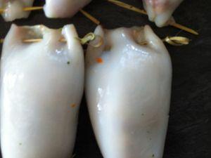 Encornets/ calamars farcis Dukan