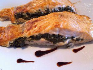 Pavés de saumon farcis à l'oseille Dukan
