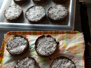 Tartelettes mousse coco et ganache au chocolat thermomix