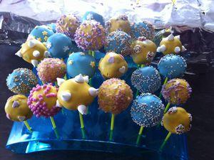Cakes pops chocolat noisettes