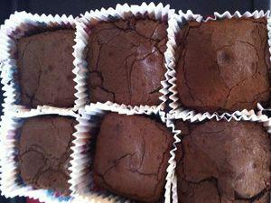 Fondants chocolat coeur caramel