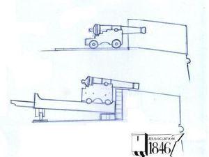 La transformation du parapet de la batterie de Cornouaille lors de l'introduction des affûts de côte (ca. 1800)