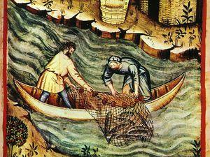Foires, travaux des champs, élevage et pêche au Moyen Âge.