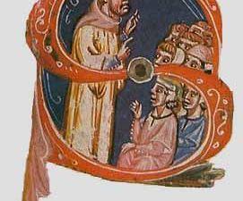 Foulques de Neuilly prêchant la quatrième croisade. Le Pape Innocent III 1198-1216. Source:https://croisades.espaceweb.usherbrooke.ca