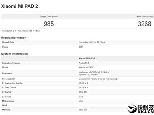 Xiaomi MI PAD 2 sous Windows 10?