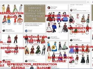 TOUTES ces reproductions sont illégales, venant de VITRIFOLK et LINTERNAUTE majoritairement