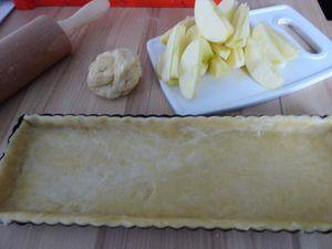 Tarte au pommes Normande