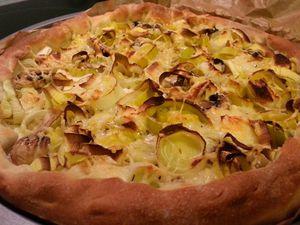 Pizza poireau &amp&#x3B; chèvre