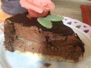 Bavarois au chocolat et aux poires