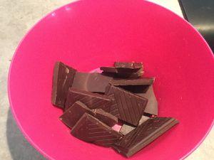 Oeufs tièdes au chocolat, sabayon, au rhum