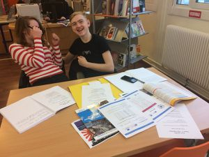 Two english pupils were in immersion at The Collège Boris Vian for one month. Great experience with interesting results..