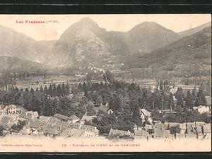 Autres cartes postales anciennes pour se rappeler : Cierp roue de Marignac au fond école des filles &#x3B; vue générale Cierp et Marignac &#x3B; Cierp et la Pique  &#x3B; vue générale de Melles &#x3B; Fronsac la tour &#x3B; le casino de Lès en Espagne &#x3B; Saint-Béat &#x3B; le Pont du Roy.
