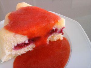 Gâteau au citron et framboises
