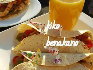 Fajitas ou tortillas de poulet mexicaines