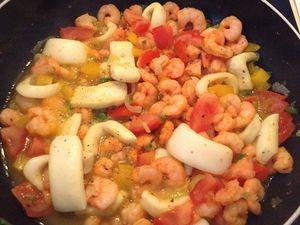 Nouilles soba aux fruits de mer