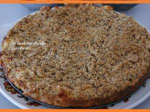 Crumbcake aux pommes et fruits secs (noisettes, noix et pistaches)