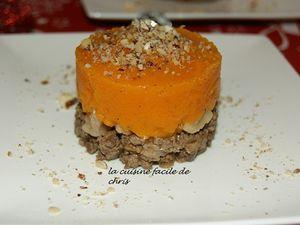Parmentier de chevreuil, châtaignes et purée de butternut