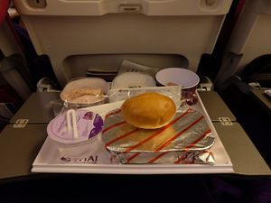 Dîner chez Thai Airways