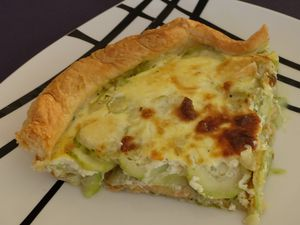 Quiche truite-courgettes au pesto
