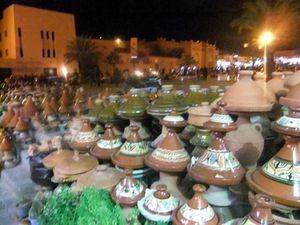 souvenir du souk by night à Tabounte à coté de ouarzazate