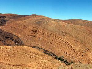 les montagnes de Tazzarine vers Ourzazate