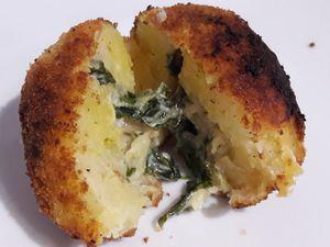 Boulettes de pommes de terre aux blettes