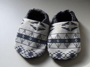 Chaussons en tissu pour bébé